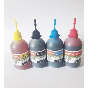 5 Flacons de 100ml compatible Canon