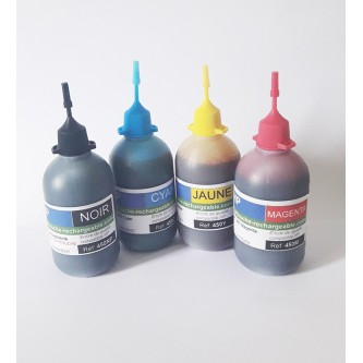 4 Flacons de 100ml compatible HP