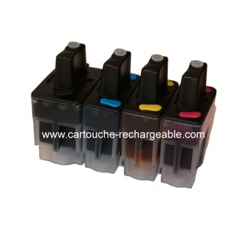 4 Cartouches rechargeable LC900BK/C/Y/M pour Brother