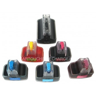 6 Cartouches rechargeables HP363BK, 363Y, 363C, 363M, 363ML,363CL